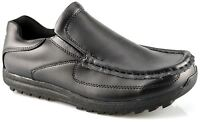 Mens Formal Shoes Coated Leather Slip On Smart Office Work School Size