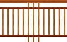 Balustrade & Handrail - Dowel Cricket Stump - 1000h x 2500w - Kwila Hardwood