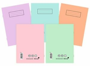 Silvine A4/A5 Pastel/ Bright Exercise Books School Notebooks 80 pages Class