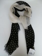 Glen Prince ladies square scarf black cream stars fine wool NEW womens wool