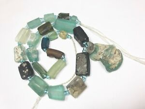 Genuine  Ancient Roman Glass Fragment beads with Extreme Patina  R 539