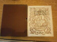 Coste Florilège Espagnol Illustré Avec un dessin original d' Alexis Hinsberger