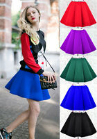 ♡IT♡ Structure Circle Skater Pleated Full Mini Skirt Neoprene Neon Rihanna