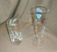 Vintage Lot of 2 Glasses