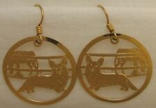 Cardigan Welsh Corgi Jewelry Gold Earrings Touchstone