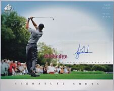 2004 SP GOLF SIGNATURE SHOTS 8x10 AUTOGRAPH AUTO: TIGER WOODS - UPPER DECK UDA