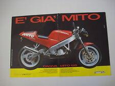 advertising Pubblicità 1990 MOTO CAGIVA MITO 125