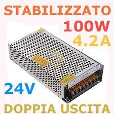 Alimentatore UNIVERSALE Ottima Qualità 220V 24V 4.2A 100W 2 uscite STRISCIE LED