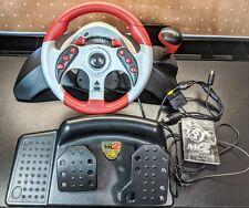 Mad Catz MC2 Universal Steering Wheel & Pedals PS1 PS2 Xbox GameCube Racing 6320
