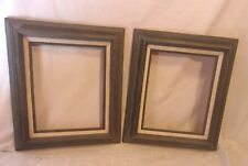 PAIR of mid century PICKLED wood frame 12 1/4 x 14 1/4  holds 8x10 molding 2 1/2