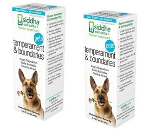 2 Siddha Temperament & Boundaries Natural Homeopathic Remedy for Dogs & Cats 1oz