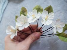 Cherry Blossom Floral Hair Pins for Spring Bride