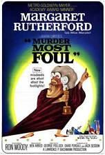 MURDER MOST FOUL Movie POSTER 27x40 Margaret Rutherford Ron Moody Charles