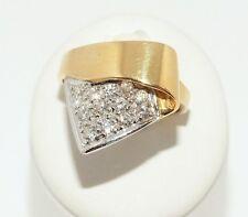 Damenring Bicolor 18ct. Gold Weißgold Diamant Ring Einzelstück 0,41ct. F SI