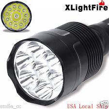 XLightFire 30000 Lumens 12x CREE XML T6 5 Mode LED Flashlight Torch Lamp Light