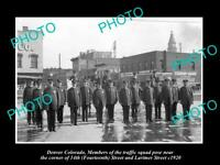 OLD 8x6 HISTORIC PHOTO OF DENVER COLORADO THE POLICE TRAFFIC SQUAD c1920