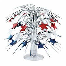 Stars Cascade Mini Table Centrepiece Decoration red blue silver USA UK Decor