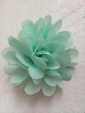 Mint Green Hair Clip Chiffon Flower Girl Bridesmaid Wedding Prom Races