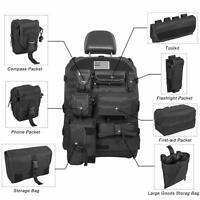 Seat Cover Organizer Tactical Molle Pouch Bag First Aid Tool Kit Storage Pockets