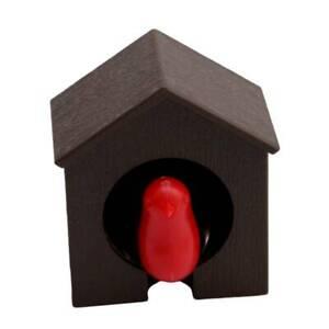 Sparrow Bird House Nest Whistle Key Holder Chain Ring Keychain Hanger Keyring KV