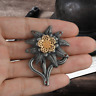 German WW2 Edelweiss Badges Wehrmacht Military Armed Forces Germany Metal Badge