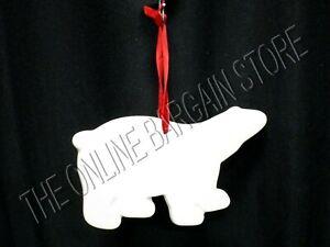 1 Pottery Barn Christmas Holiday Winter Polar Bear Ceramic tree Ornament Decor