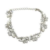 Women Chain Bracelets Fashion Jewelry Zinc Alloy Glass Gems Shine Charming