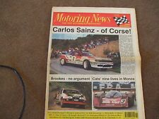Motoring News 9 May 1991 Tour of Corsica Welsh Rally Monza SWC Reynard F1