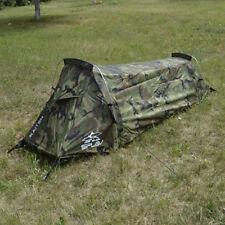 """Bivouac Tent """"Kaiten"""" 1 Person Woodland Camo Tent Waterproof Wide Screening"""