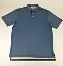 Peter Millar Summer Comfort Golf Polo Shirt Medium Black Gray Checked Pattern