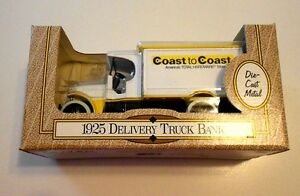 Ertl Coast to Coast 1925 Delivery Truck Bank 1/30 Scale Die Cast new in box