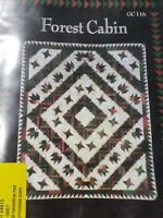 Forest Cabin Quilt Pattern by Glad Creations Inc. GC116 NEW 85x100 Susan Dyer