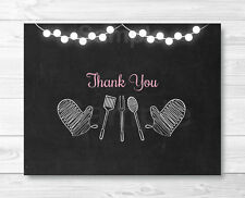 Pink Chalkboard BaByQ Baby Shower BBQ Thank You Card Printable