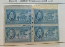 US Scott #996 - Block of 4 - 1950 Indiana Territory 3c - MNH