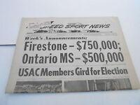 JAN 8 1969 NATIONAL SPEED & SPORTS NEWS car racing newspaper - FIRESTONE ONTARIO