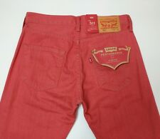 Levi Strauss & Co 501 Mens Jeans Red Straight Fit W30 L32 New With Tags