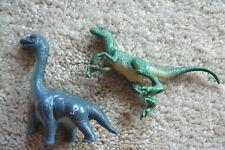 "Jurassic Park 2.75"" Brachiosaurus & Jurassic World 3.75"" Velociraptor Euc"