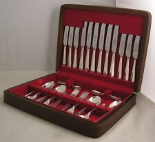 RATTAIL Pattern SHEFFIELD Silver Plated 44 Piece Canteen of Cutlery - 6 Person