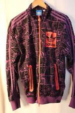 Adidas Originals 3 ST Windbreaker Track Top Jacket Men small Purple WOMEN LARGE