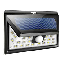 LED Solarlicht Wandleuchte Wandlampe Lampe ABS Wasserdicht Draussen DE