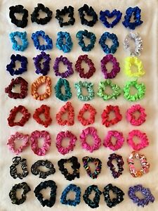 48 GK ELITE Gymnastics SCRUNCHIE Hair Ties Head Bands MANY DIFFERENT COLORS