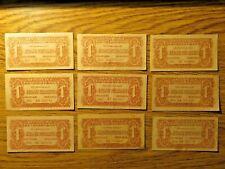 More details for    ww ii 1944 czechoslovakia/russian occupation 1 korunu banknote,9 pieces .