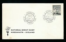 ICELAND SCOUT CAMP 1966 ENVELOPE