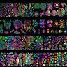 8x Holographic Nail Foil  Dreamcatcher Geometric Xmas Nail Art Transfer Stickers
