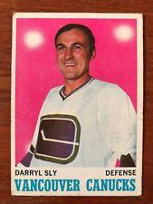 1970/71 Topps Hockey Card #115 Darryl Sly Vancouver Canucks VG/EX