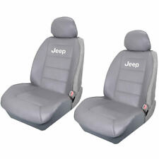 Brand New Elite Style Synthetic Leather Sideless Front Gray Seat Covers for Jeep