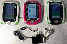 Lot of 3 LeapPad 2 Barbie #66101 &Green, 1 Leap Pad Green Tested/Reset LeapPad2