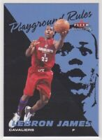 2003-04 LeBron James Fleer NBA Basketball Playground Rules ROOKIE CARD #1 LAKERS