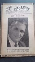 Rivista Il Guida Del Concerto E Delle Teatri Lirica 1951 N°7 M.FACCHINETTI