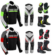 WATERPROOF MOTORBIKE SUIT MOTORCYCLE HIGH TECH TROUSERS GLOVES BOOTS SUITS
